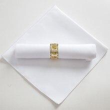 Guardanapos de pano de mesa de casamento branco da cor sólida reciclados guardanapos de matéria têxtil poliéster restaurante lenço eco-amigável 48cm quadrado