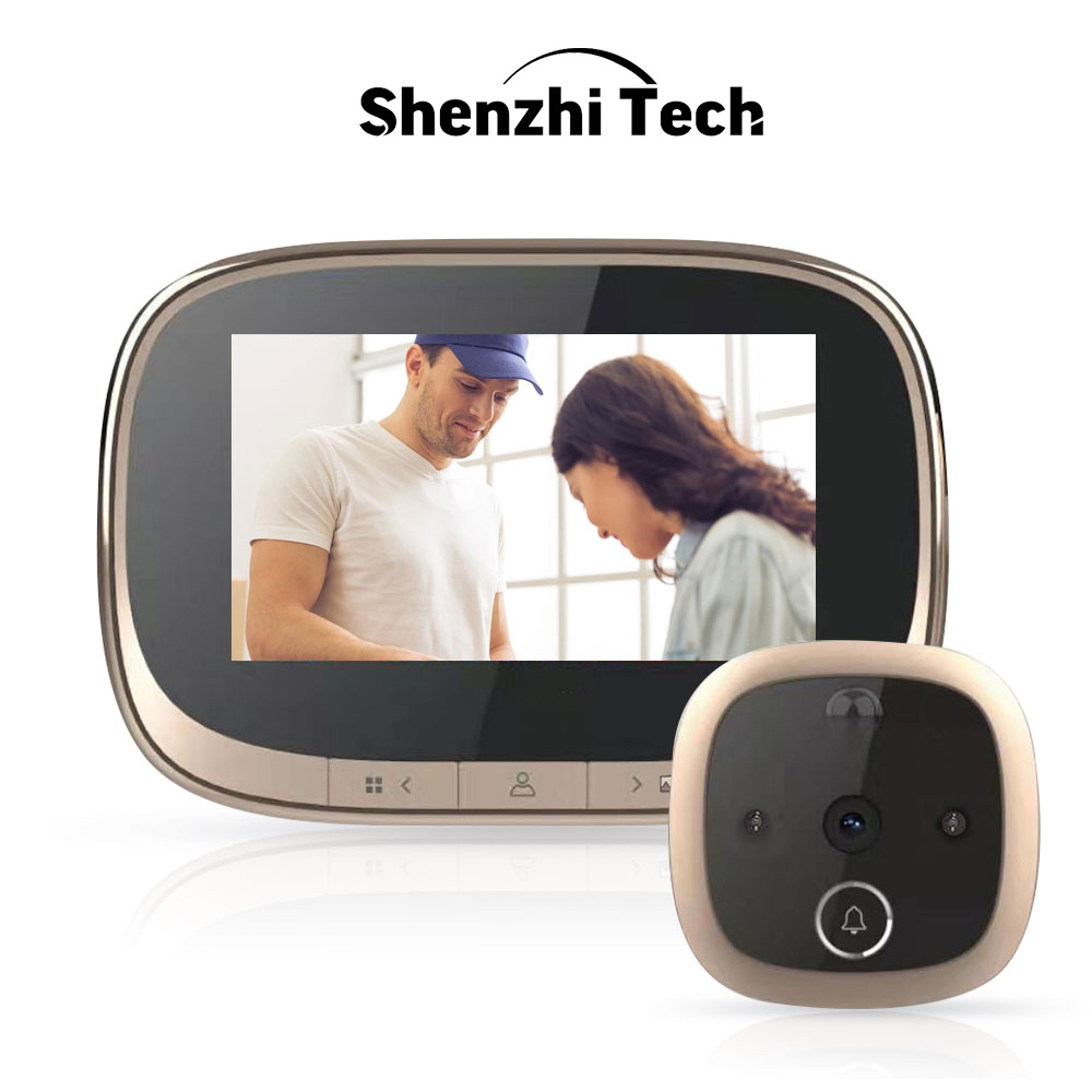 Digital Door Viewer <font><b>4.3</b></font> <font><b>inch</b></font> <font><b>LCD</b></font> Screen Motion Detection Peephole Camera Photo Video Record Wide Angle Smart Door Viewer image