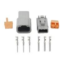 DTM conectores automotrices de 3 pines conector impermeable con terminal DTM04-3P/DTM06-3S