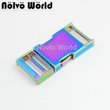 5 10 30 pieces 2.5cm 1 inch Rainbow Dog Collar Slider Buckles,Personalized release buckles strap adjuster