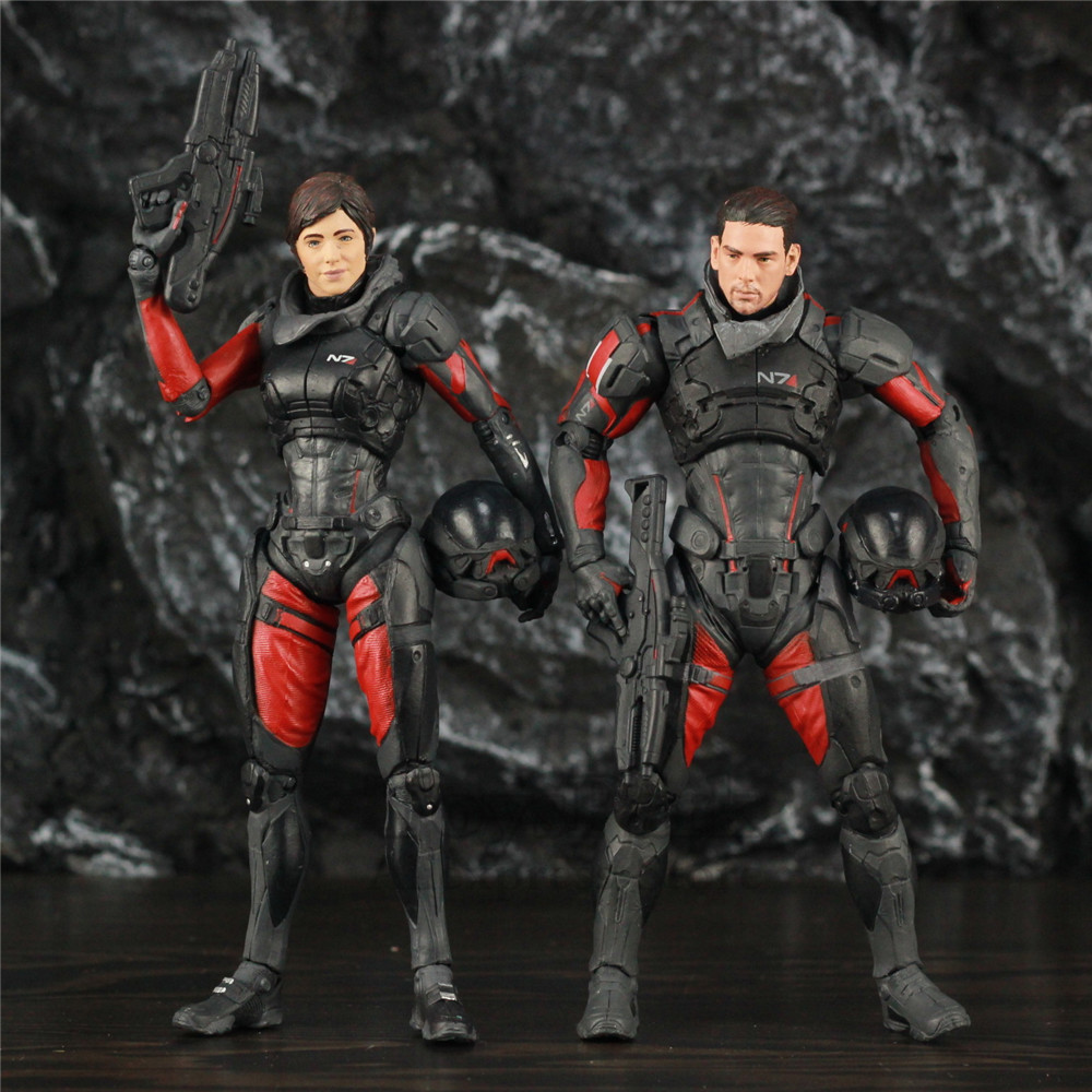 Mass Effect Andromeda 7 Sara Ryder Scott Ryder Action Figure Status Original McFarlane Toys Color Tops Video Game Collectible image
