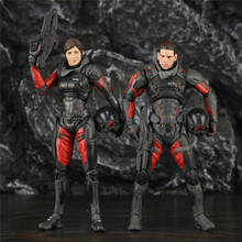 "Mass Effect Andromeda 7"" Sara Ryder Scott Ryder Action Figure Status Original McFarlane Toys Color Tops Video Game Collectible"