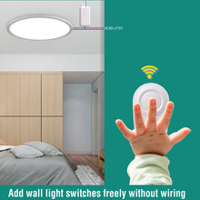 UVEVER 433Mhz wireless Wall Switch rf 86 wall panel transmitter Safety Switch and AC 110V 220V relay interruptor for Light Lamp