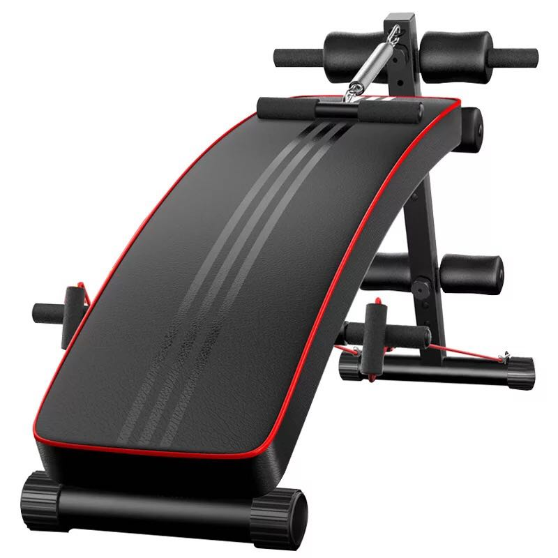 Folding portable supine board multifunctional muscle board exercise sit-up fitness machine sit up bench exercises