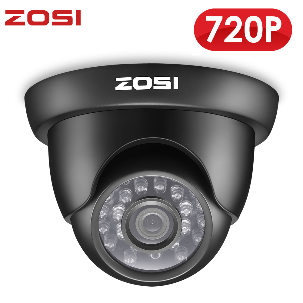 ZOSI 720P TVI Outdoor Indoor Video Surveillance Dome Camera HD 1280 TVL Weatherproof Home CCTV Security Camera System