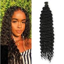 22 polegada freetress profunda torção crochê tranças extensões peruca africano sintético omber trança de cabelo para cabelo preto mulher expo cidade