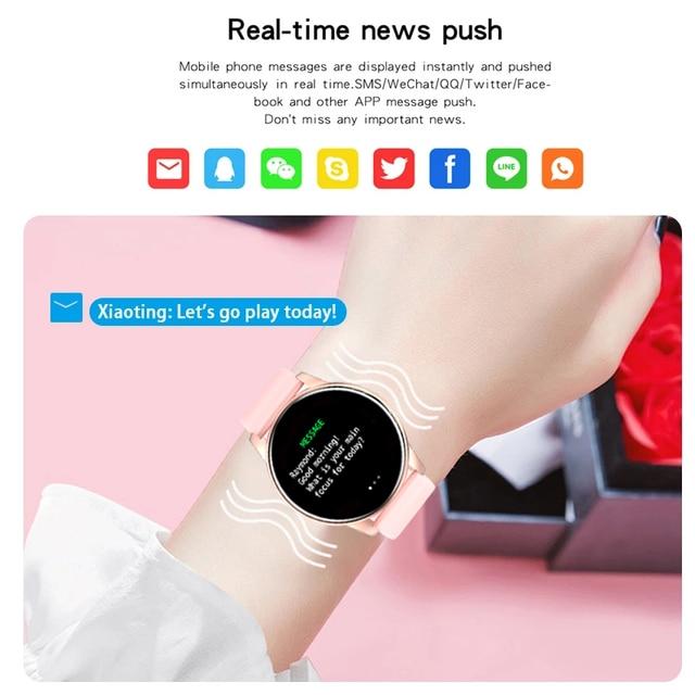 LIGE 2021 New Smart Watch Women Full Touch Screen Sport Fitness Watch IP67 Waterproof Bluetooth For Android ios smart watch Men 3