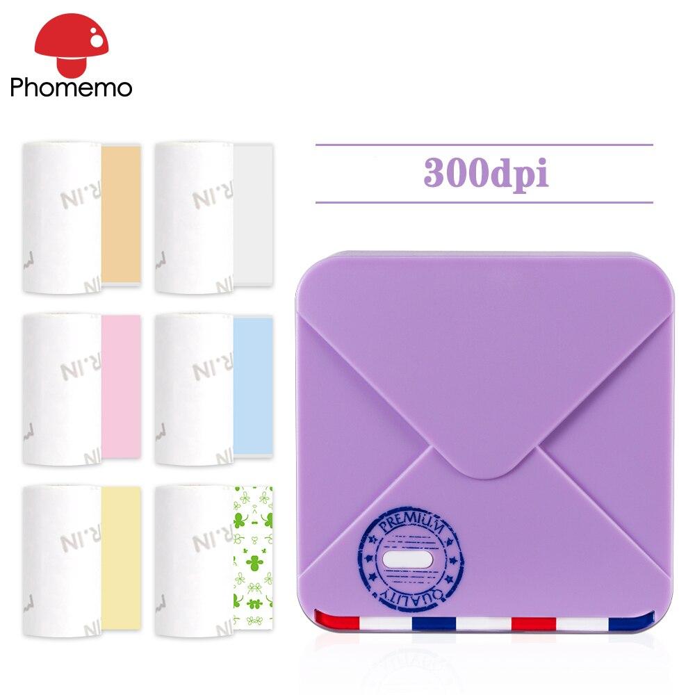 Phomemo M02S Mini Thermal Label Printer Portable Wireless Bluetooth 300dpi HD Mini Multifunctional Printer High Quality