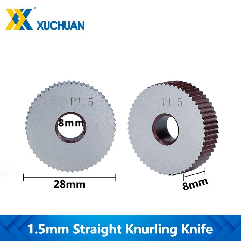 1.5mm Knurling Wheel Gear Shaper Cutter Lathe Knurling Wheel Straight Knurling Knife Inner Hole Embossing Wheel