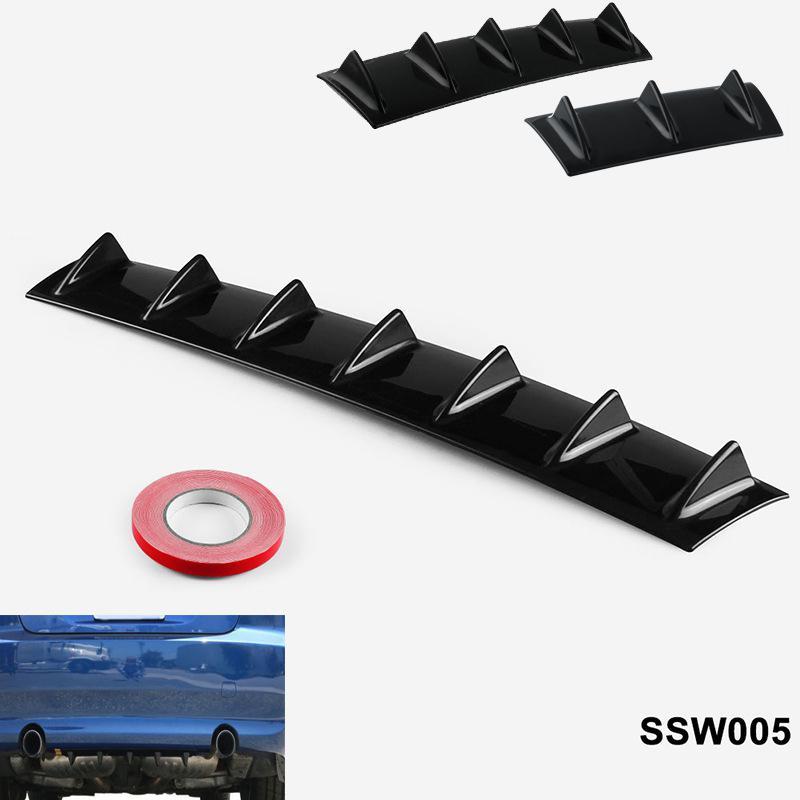 HiMISS Shark Estilo Universal parachoques trasero ABS labio difusor aleta uso Universal