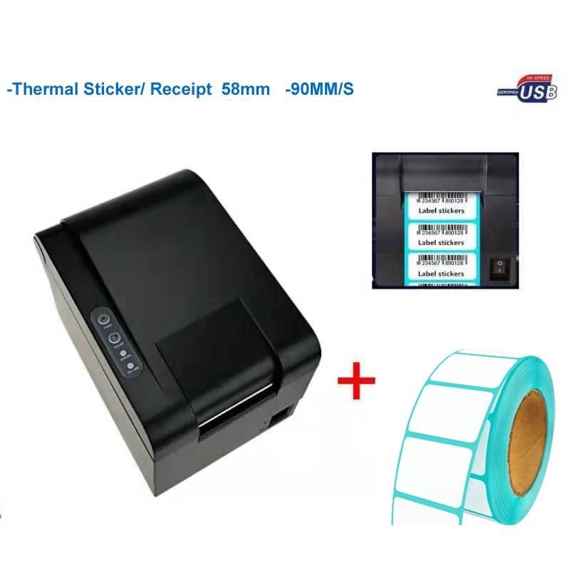 Новое поступление, высококачественный принтер штрихкодов, наклейка, принтер, Qr-код, не сушильный принтер этикеток, может напечатать бумагу ...
