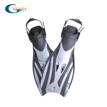 цены silver cool High quality open heel adjustable diving fins
