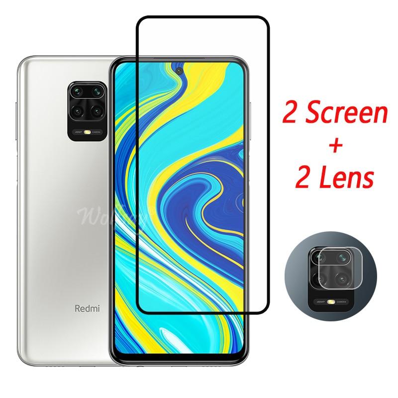 Full Cover Tempered Glass For Redmi Note 9S Screen Protector Redmi Note 9S 8 9 9A 9C Camera Glass Fo