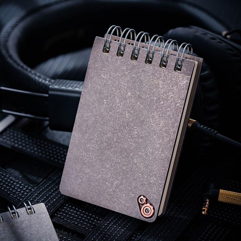 Titanium EDC Notebook Shorthand Notebook Portable Ledger