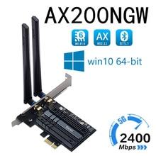 Fenvi Tri Band 5374Mbps  Wireless Network Card Wi-Fi 6E Intel AX210 WiFi Adapter AX200NGW 802.11ac/ax Bluetooth 5.2 For Desktop