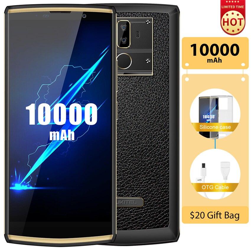 "OUKITEL K7 Pro 10000mAh 4G Smartphone Android 9.0 4G RAM 64G ROM MT6763 Octa Core 6.0"" FHD+ 18:9 Fingerprint 9V/2A Mobile Phone"