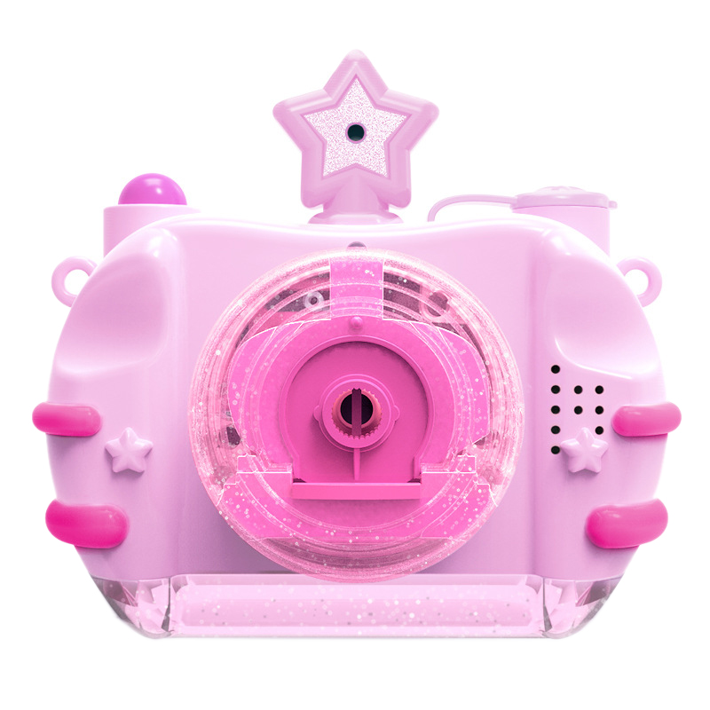 Children Bubble Camera Blowing Bubble Toys Lighting Music Electric Camera Automatic Bubble Machine Indoor Outdoor Parties Toy Fo