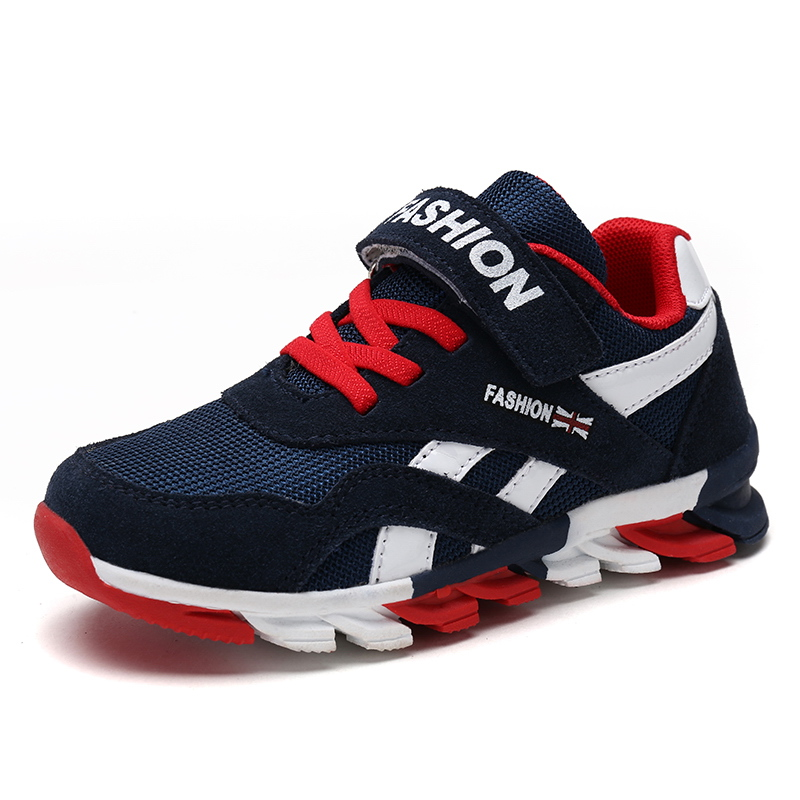 2019 Spring Autumn Boys Shoes Fashion Brand Children Shoes Training Breathable Kids Sneaker Outdoor Sports Casual Boy Shoes 118