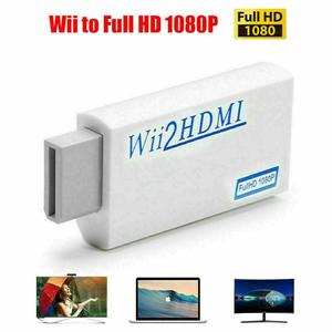 For Wii To HDMI Converter Adapter Full HD 1080P Wii To HDMI Converter 3.5mm Audio Plug And Play For PC HDTV Monitor Display