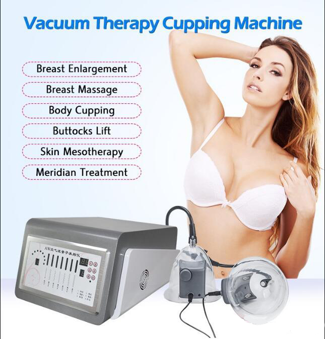 Top Quality  Big Cups Butt VIbration Vacuum Suck Breast Enlargement Machine Breast Massager Machine For Spa With Far-infrared