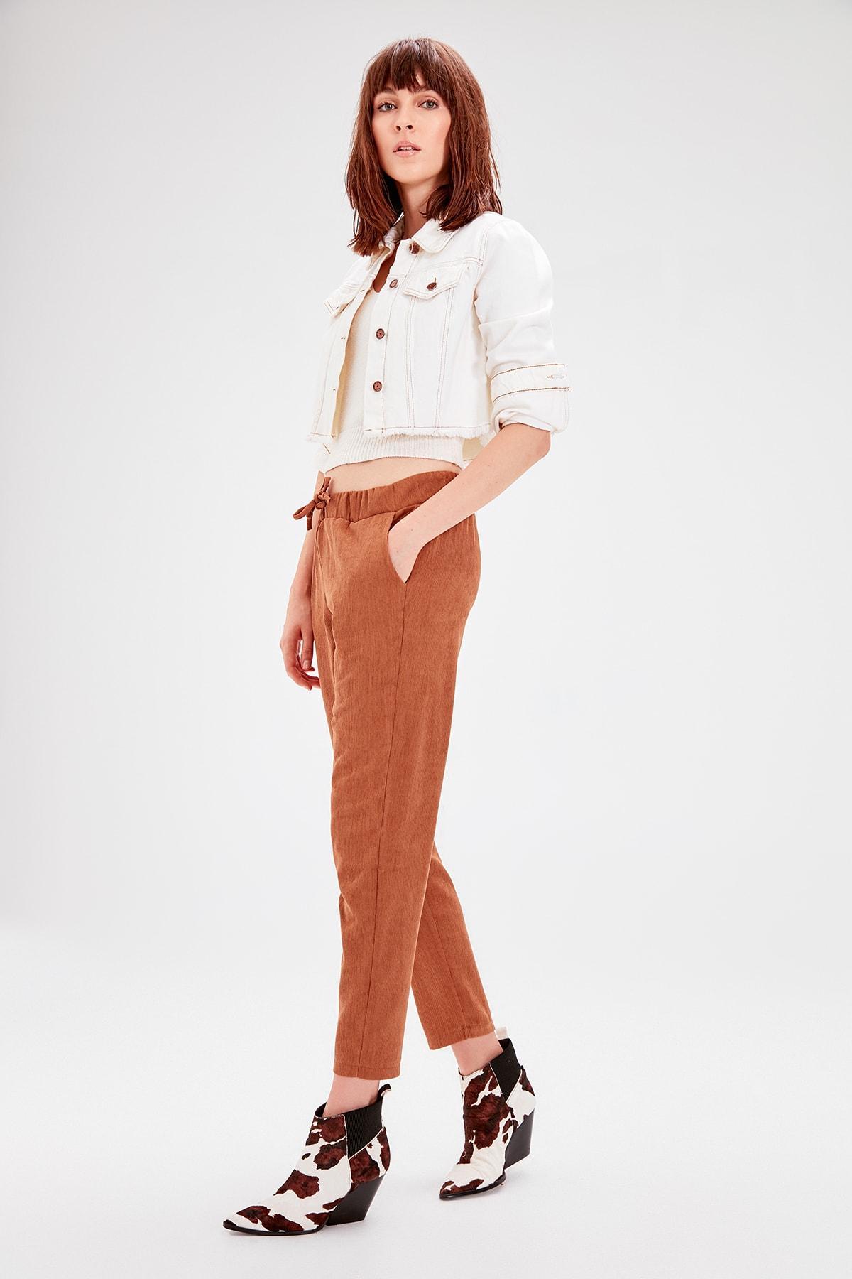 Trendyol Camel Lacing Detaylı Pants TWOAW20PL0195