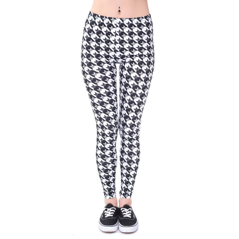 Brands Women Fashion Legging Aztec Round Ombre Printing leggins Slim High Waist  Leggings Woman Pants 68