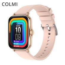Colmi p8 plus relógio inteligente masculino 1.69 Polegada toque completo freqüência cardíaca fitness rastreador ip67 à prova dip67 água mulher gts 2 smartwatch