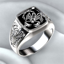 Modyle Top-quality Gothic Style Punk Scorpion Male Retro Ring Scorpion Pattern Rings