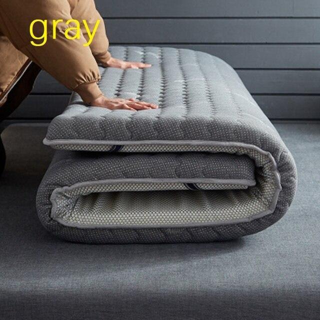 Colchão grosso de látex com 10 cm, único, tamanho duplo, 100% natural, espuma de memória, estereoscópico, respirável e confortável