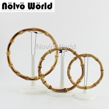 2-10-20 pieces 12cm 15cm 18cm Customized Bamboo Bag Handle Accessories bamboo purse handle natural Round - discount item  1% OFF Bag Parts & Accessories