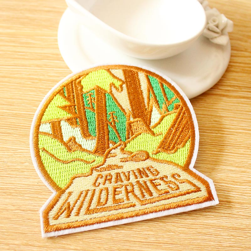 Craving Wilderness Patch Embroidered Patches For Clothing DIY Hook Loop Patch Camping Iron On Patches On Clothes Sewing Patch in Patches from Home Garden