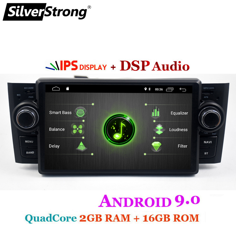 Car Multimedia player GPS Android 9.0 Car Radio 1 Din DVD Automotivo For Fiat Grande Punto Linea 2007-2012 Radio FM DSP bt wifi ips (1)