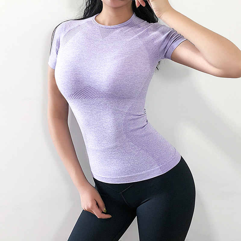 Women's Sports Wear For Women Gym Yoga Top T-shirt Female Workout Tops Sport Shirt Fitness Seamless Jersey Woman Workout Tops