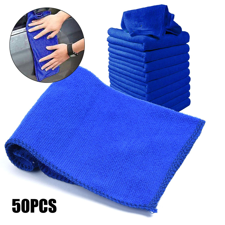 50 pces 23 23 cm carro macio microfibra absorvente lavagem limpeza polones toalha pano universal para