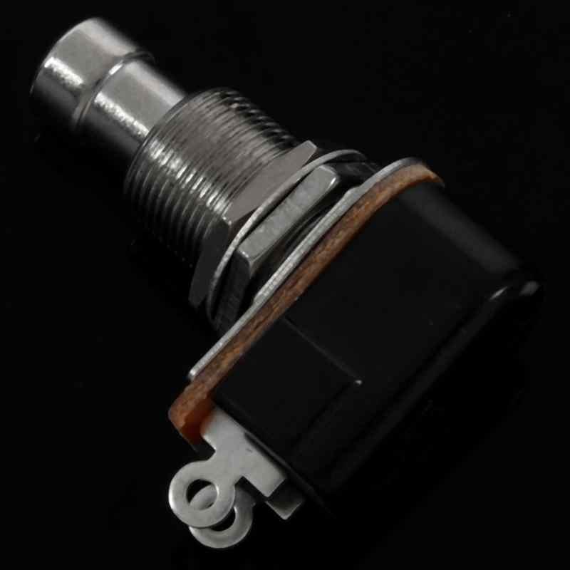 تعزيز! الغيتار دواسة 2 دبوس SPST مؤقتة تأثيرات زر مصباح كهربي سفلي