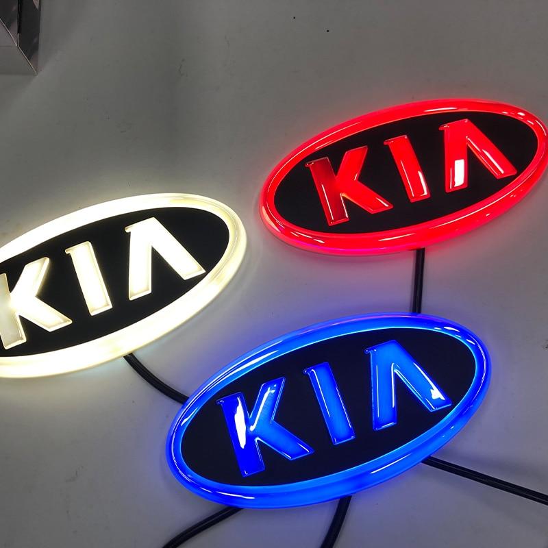 4D Car Led logo Light Auto Front Emblem Lamps Badge Avant Logo Light For KIA K5 Sorento Soul Forte Cerato Auto Accessories 1