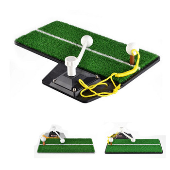 Indoor Golf Swing Training Mat Sneakers Practical Device Durable Swing Golf Mat for Home Office