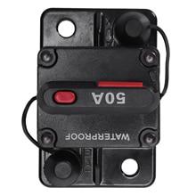 12 V/24 V автомобиль морской аудио держатель предохранителя 50A ручной сброс автоматического выключателя