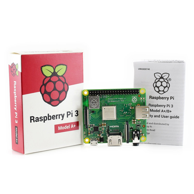 Raspberry Pi 3 Model A+ Plus 4-Core CPU 512 RAM With WiFi And Bluetooth +Acrylic Case+Power Charger And Heatsink