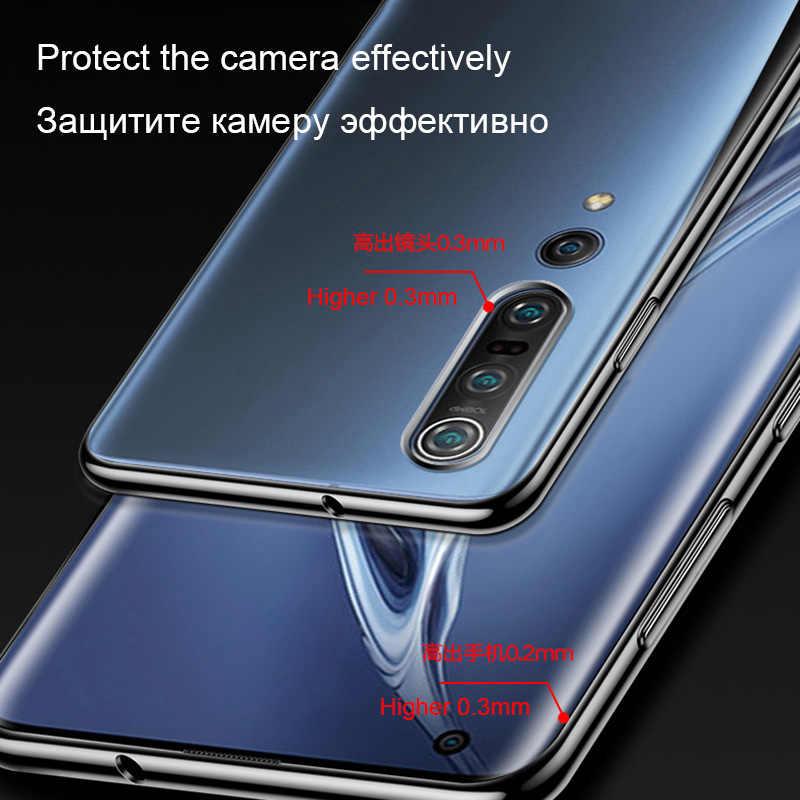 Caso claro de luxo para xiaomi mi 6 8 9 10 5g se lite pro redmi 3 s 4 4a 5 plus 5a nota 4 4x telefone móvel volta capa silicone coque