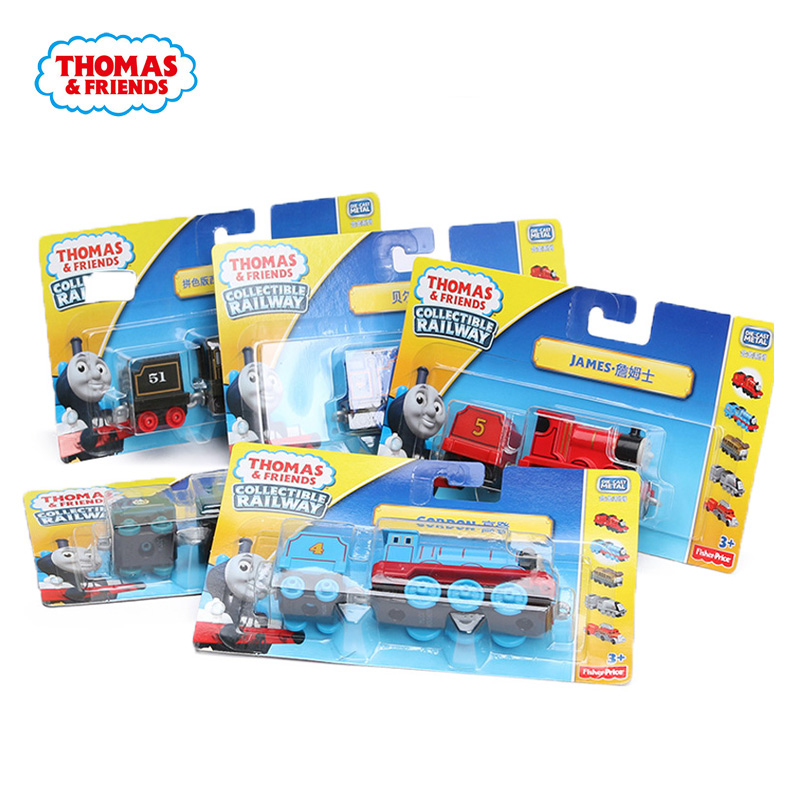 Thomas And Friends Metal Engine James Shane Edward Yong Bao Mini Trains Alloy Wooden Accessories Classic Toy Collectible Railway