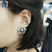 Original Design Personality Poppies Earrings 925 Sterling Silver Enamel Men And Women Wild