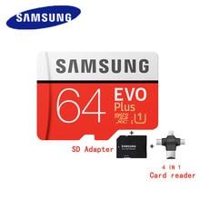 SAMSUNG – carte Micro SD 100% originale, 64 go, u3, EVO Plus, classe 10, TF, 80 mo/s, sdxc UHS-1, livraison gratuite