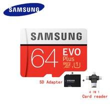 SAMSUNG-tarjeta Micro SD Original 64 GB u3, EVO Plus, 64 GB, Clase 10, TF, C10, 80 MB/S, MICROSDXC, UHS-1, Envío Gratis
