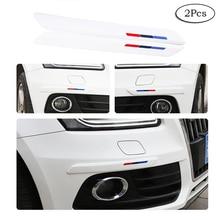 2 Pcs Universal Anti-Collision Patch Bumper Guard Strip Anti-Scratch Protector Trim for Cars SUV Pickup Truck CB009