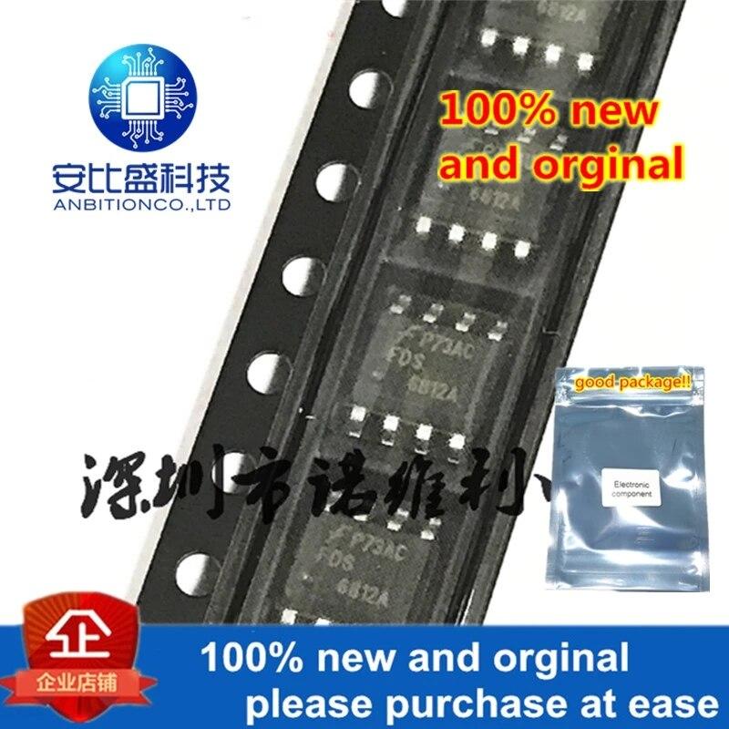 10pcs 100% New And Orginal FDS6812A 6812A SOP-8 N 20V 6.7A MOS In Stock