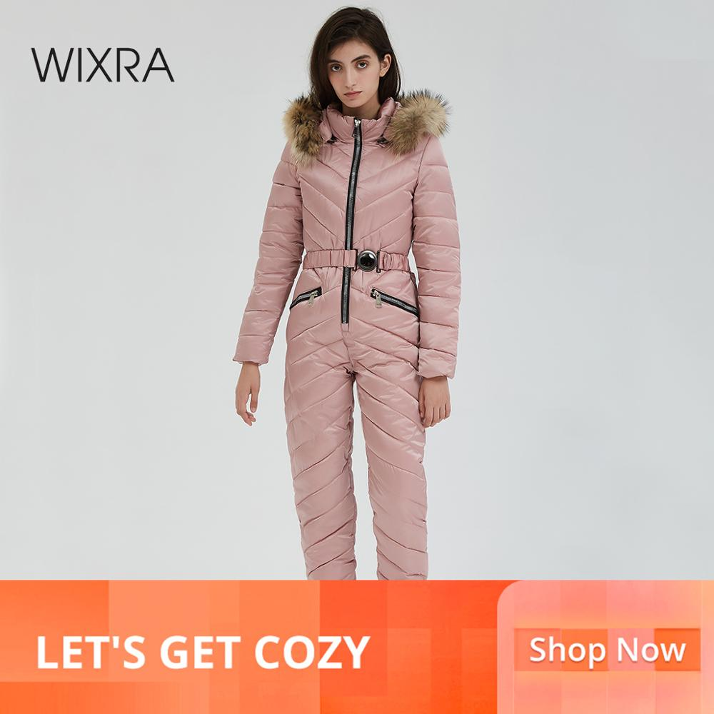 Wixra One Piece Ski   Jumpsuit   Breathable Snowboard Jacket Skiing Pant Sets Bodysuits Outdoor Snow Suits Women Winter Clothing