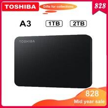 """توشيبا Canvio أساسيات HDD 2.5 """"A3 USB 3.0 قرص صلب خارجي 2 تيرا بايت 1 تيرا بايت قرص صلب محمول externo ديسكو duro externo القرص الصلب"""