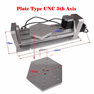 Image 2 - CNC 5 axis Rotary axis plate type for cnc router milling machine kit