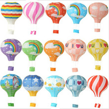 22 colori 12/16 pollici hot air balloon stampa lanterne di carta decorazione di cerimonia nuziale festival bar mestieri della decorazione della decorazione FAI DA TE del partito del pendente